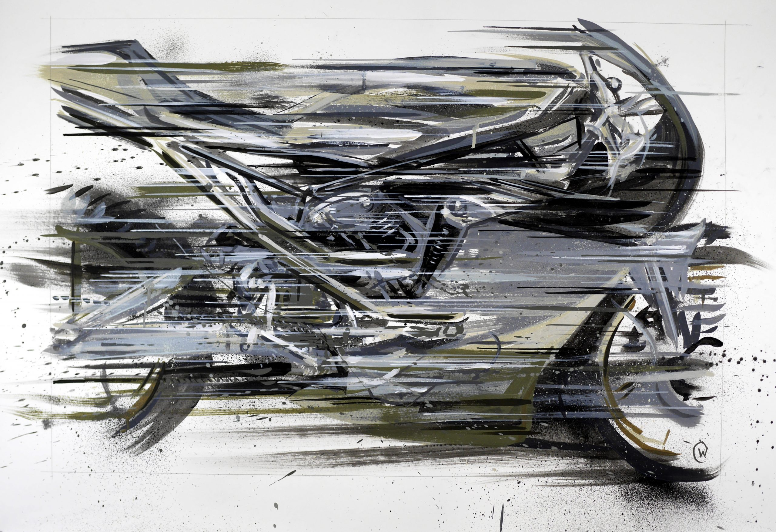 Max Hazan Knucklehead Custom Motorcycle Art